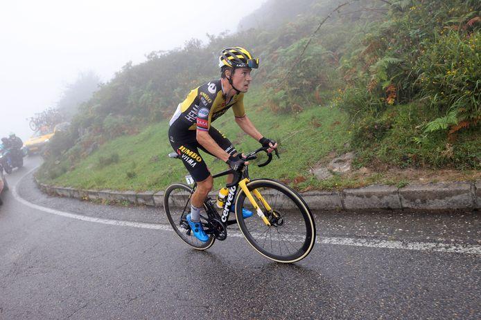Primoz Roglic is making his mark today at the Alto del Jamonitero.