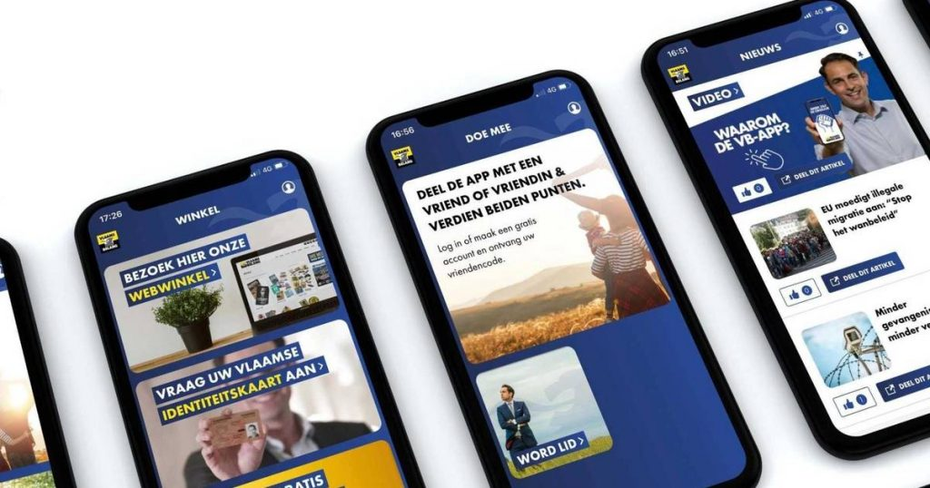 Vlaams Belang launched his own app    interior
