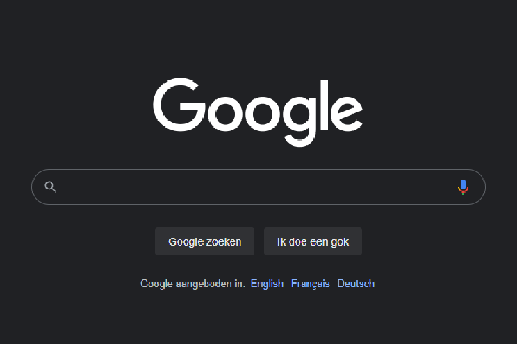 How to turn on dark theme in Google search