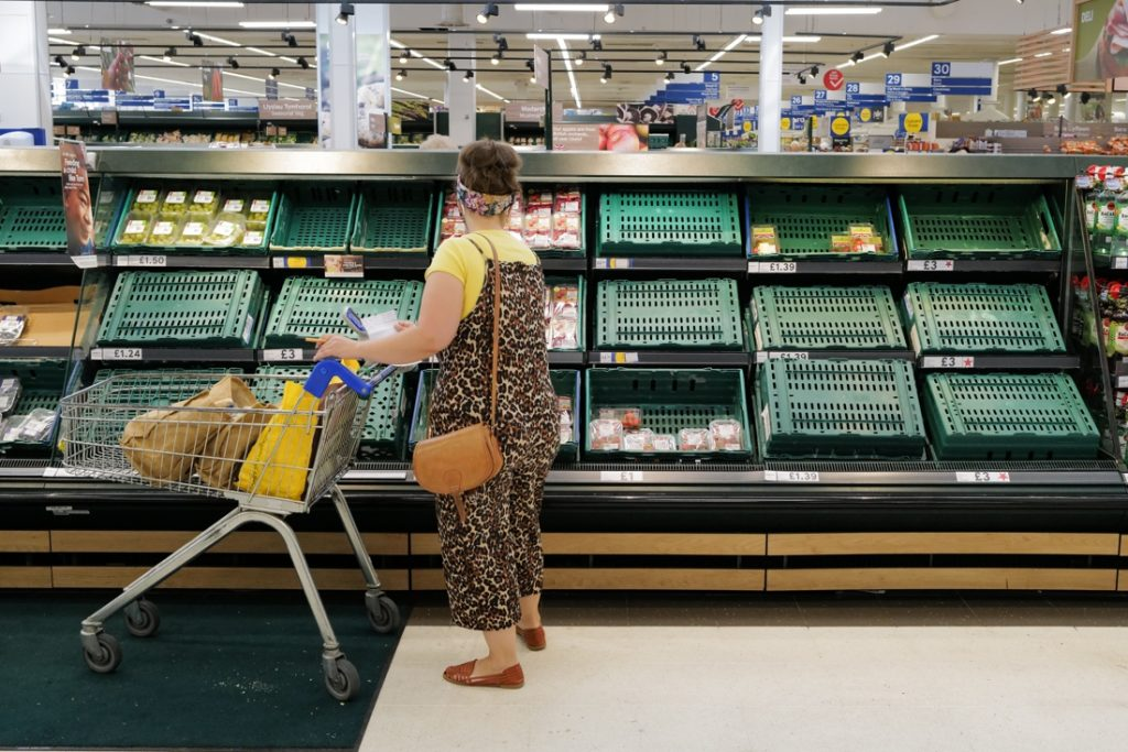 Seventeen per cent of Britons do not have access to basic foodstuffs...