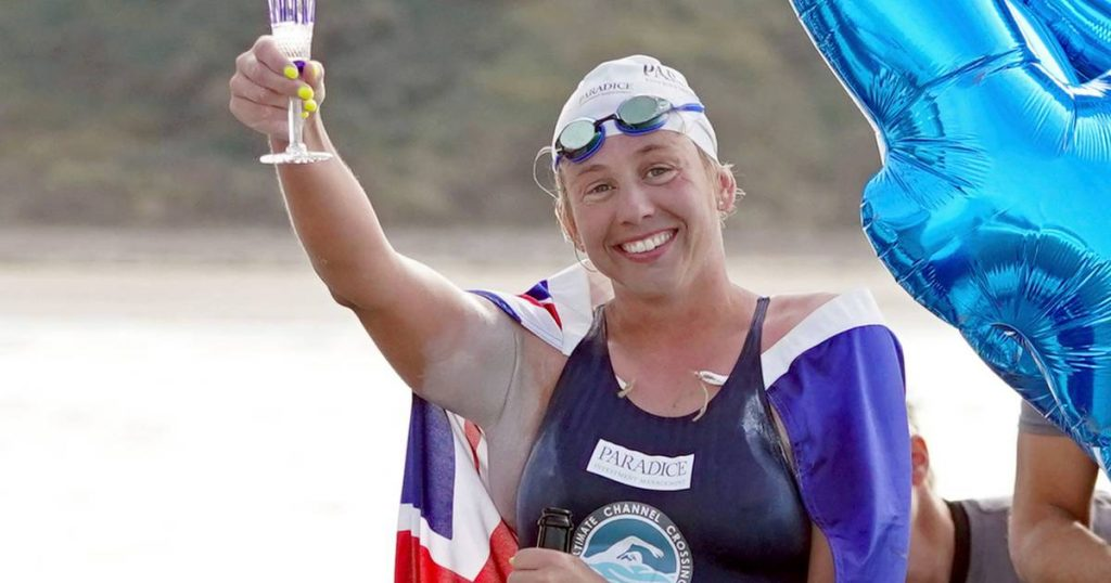 An Australian swims from England to France for the 44th time and sets a world record    Abroad