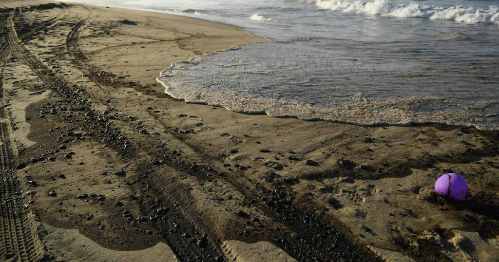 Oil spill off the coast of California    Abroad