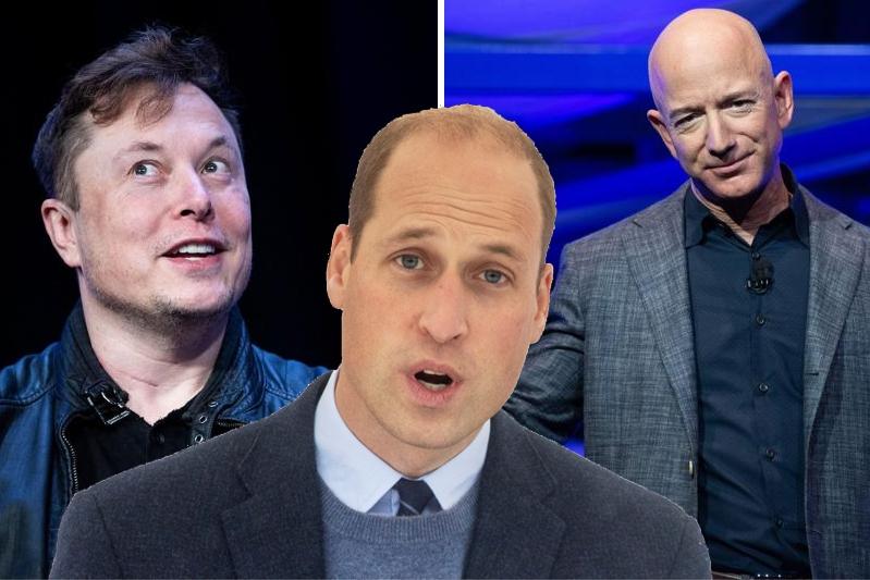 "Prince William criticizes Elon Musk and Jeff Bezos: ""..."